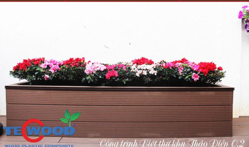 Ốp bồn hoa gỗ nhựa TecWood 6