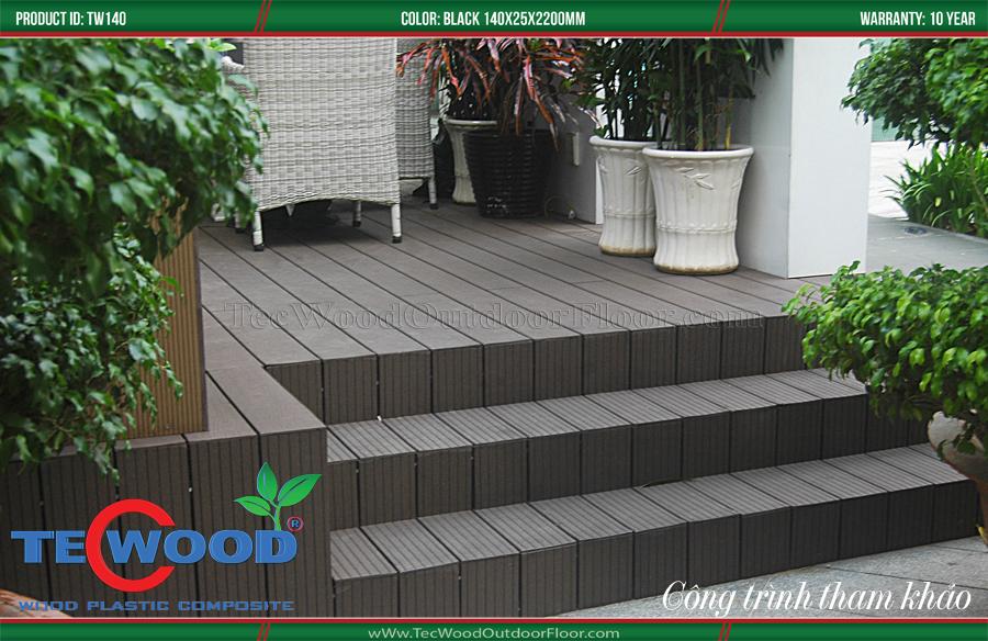 Sàn gỗ TecWood lót cầu thang 1