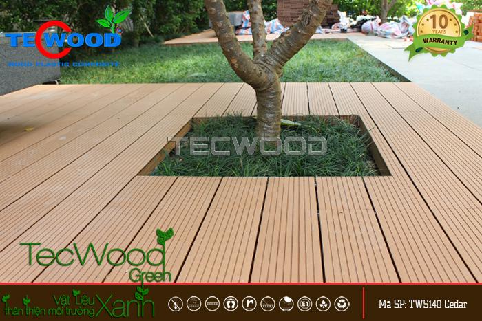 Chiêm ngưỡng vẻ đẹp hiện đại, tinh tế của ván sàn gỗ nhựa lót ban công