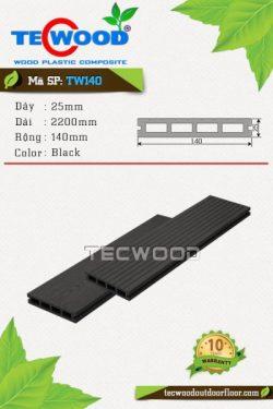 sàn gỗ ngoài trời tw140 black
