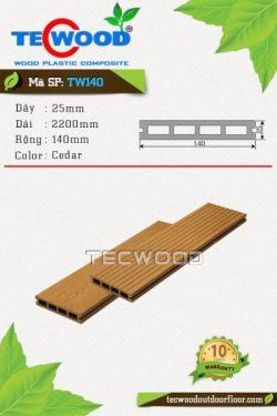 sàn gỗ ngoài trời tw140 cedar
