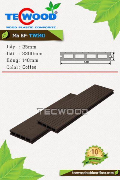 sàn gỗ ngoài trời tw140 coffee