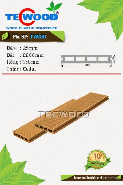 sàn gỗ ngoài trời tw150 cedar